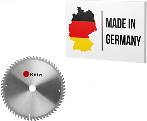 Ritter ® disco sierra circular 315 x 30 mm madera | discos de corte para madera 315x30 | hoja de sierra circular | Compatible con sierras circulares de Bosch, Makita, Festool, evolution etc.