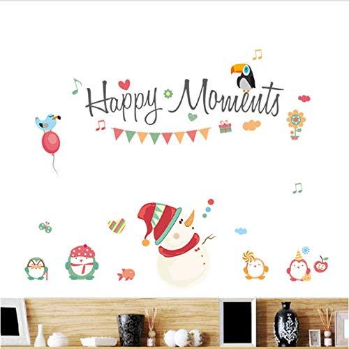 Uwant Mode de No/ël Foil guirlandes de d/écorations de plafond /étoiles Flocons de neige /¨ C Multicolore