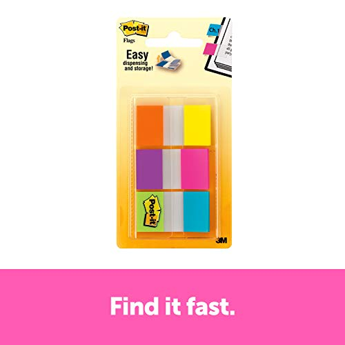 Postit Flags Electric Glow94 in x 17 in 60 Flags per Pack 680EGALT