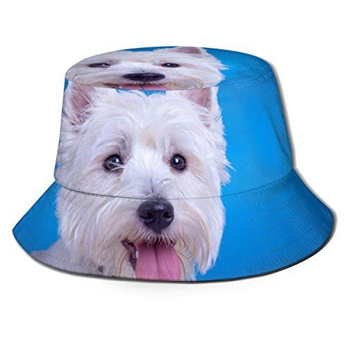 Hdadwy Kappen Schöne West Highland White Terrier Fischerhut Eimer Hut Retro Packable Sonnenhut für Männer Frauen