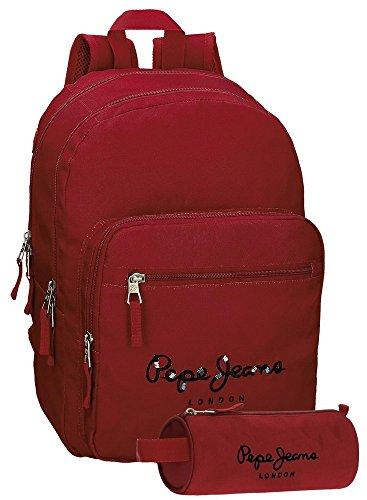 Pepe Jeans Harlow Mochila Escolar, 42 cm, 19.44 litros, Rojo