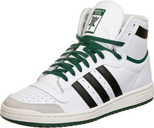 adidas Top Ten Hi, Basket Homme, BlancNoirVert, 44 EU