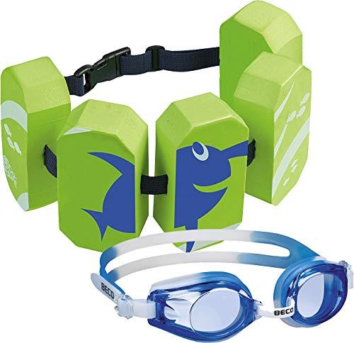 Beco Schwimmgürtel (grün + Schwimmbrille blau)
