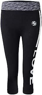 Women Letter Printed Slim Yoga Pants Seventh Length Fitness Legging - M 6
