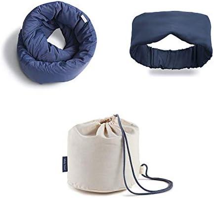 Huzi Infinity Pillow Bamboo Sleep Mask Case Home Travel Soft Neck Scarf Support Bon Voyage Kit product image