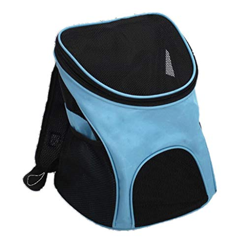 YULAN Double-legged Pet Box Cage Multi-function Backpack Chest Cat And Dog Portable Travel Transport Car Out Of The Consignment 4 Colors 29 * 24 * 34cm (Color : Blue)