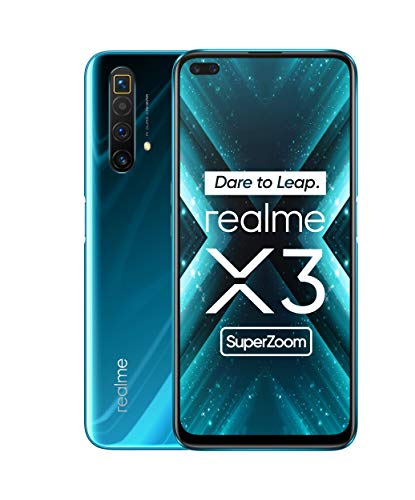 realme X3 Super Zoom 6.5 Zoll FHD+ Display Dual-SIM Smartphone 12GB RAM + 256GB ROM, 64MP Quad-Kamera Glacier Blue