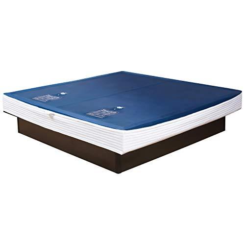Premium Comfort Wasserkern Wasserbettmatratze für RWM AQUA CLASSIC - eine Seite für Bettgröße 200x220 cm Dual - schräger Softrahmen: innen keilförmig - Höhe innen: 20-23 cm - Beruhigungsstufe 90% / F6