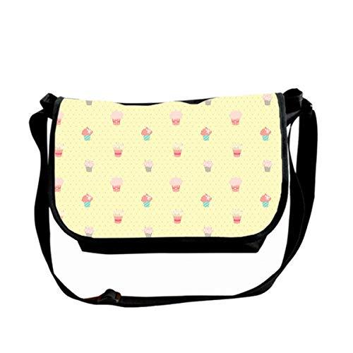 Hdadwy Messenger Bag Unisex Casual Bag Lightweight Adjustable Commuter Single Shoulder Bag,Small Cake