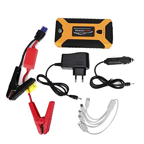 Batterieladegerät Starthilfegeräte für Autobatterien Autostart Netzteil 12 V 20000 mAh Kfz Notstart Lampe Notebook Ladegerät Autobatterie Batterie Starthilfe Tragbares Adegerät 110-240 V (EU-Stecker)