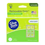 Glue Dots Removable Dots Value Pack Sheets, 1/2 Inch, Clear, Pack of 600...