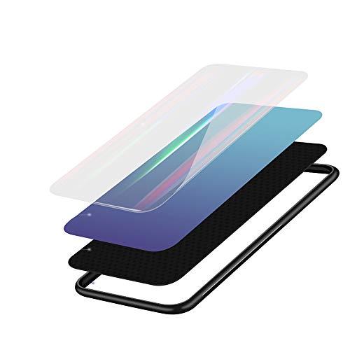 Kkkie Hülle kompatibel Huawei Mate 20, Tempered Glass Stoßfest Back Case TPU Bumper Dünn Farbverlauf Schutzhülle Kratzfest Protective Handyhülle kompatibel Huawei Mate 20 Pro (Schwarz, Mate 20 Pro) - 4