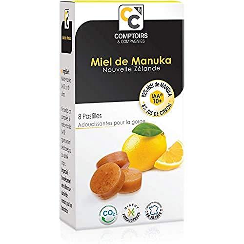 COMPTOIRS ET COMPAGNIES Pastilles miel de Manuka IAA10+ et Jus de Citron