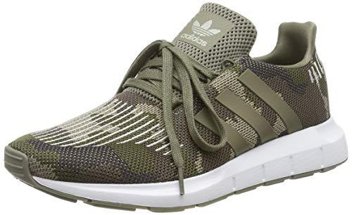 adidas Swift Run Zapatillas de Gimnasia Hombre, Verde (Trace Cargo/Trace Cargo/Ftwr White), 42 EU (8 UK)