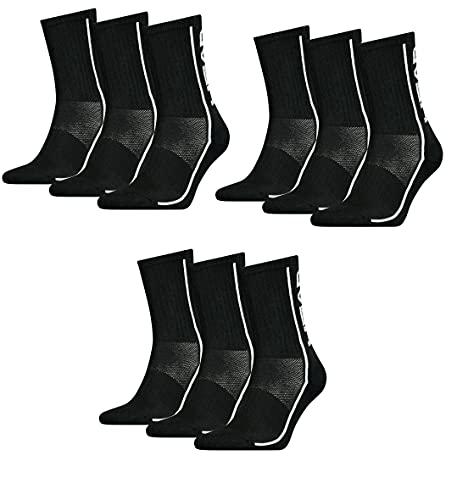 HEAD Unisex Performance Crew 9er Pack (Black (005), 43-46)