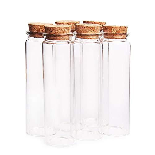 MHXY Transparent 100 stücke 37 * 120mm 90ml Glas Aufbewahrungsflasche Wishing Floating Flasche Leere Probenbehälter mit Korkstopfen - transparent Glasflasche