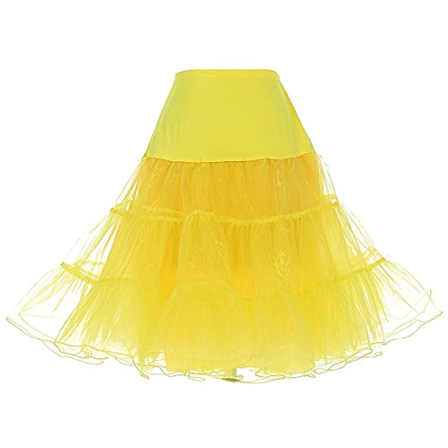 O.D.W Vintage 50s Hoopless Tüllrock Rock des Mädchens Röcke Swing Kleid Krinoline Tutu 50er Jahre...