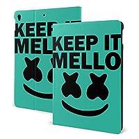 Keep It Mello Ipad 10.2 第7世代 Airpod適用 ケース 極薄 超軽量 傷つけ防止 耐久性 三つ折りスタンド フォリオケース