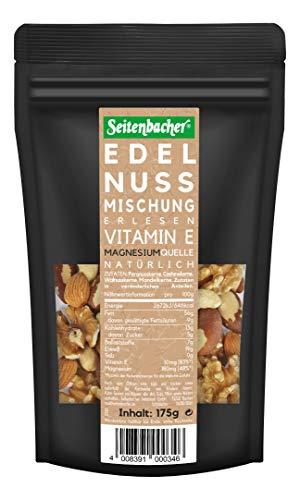 Seitenbacher Edel-Nuss Mischung- Edelste Ganze Nüsse - ohne Zusätze, 175g
