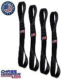 Chase Harper USA - 2020 Powersport Series Soft Hook Tie Down Extenders - 1' Wide x 14' Long (Set of 4) - 3,100 lb Break strength/12,400 lb. Combined-Black