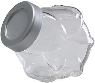 Ikea 000.302.62 FÖRVAR FORVAR-Jar with lid, Glass, aluminium-000.302.62, 61 oz, Clear
