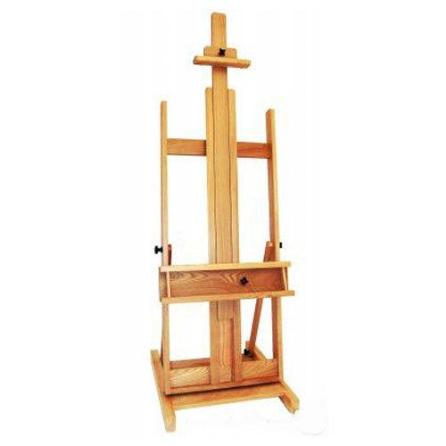 Cavalletto per artisti professionisti in legno di faggio da studio per supporto dipinti, XXL 210cm