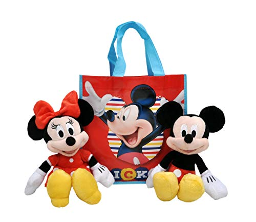 Disney 11' Plush Mickey & Minnie Mouse 2-Pack in Gift Bag