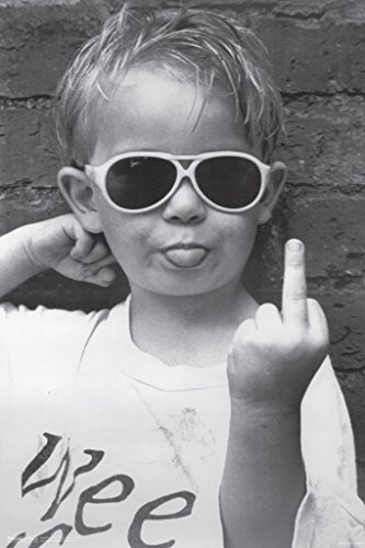 Pyramid America Hi Mum Middle Finger Little Kid Sunglasses Giving The Finger Funny Humorous Photo Cool Wall Decor Art Print Poster 12x18