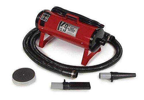 HIGHEST QUALITY PROFESSIONAL GROOMING BLOWER DRYERS K-9 II Dryer for Groomers(Fire Engine Red)