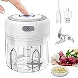 Mini Tritatutto Elettrico, Mini Robot da cucina Tritatutto da Cucina Elettrico Food mixer Chopper Vegetable Cutter Food Processor Kitchen(250ML)