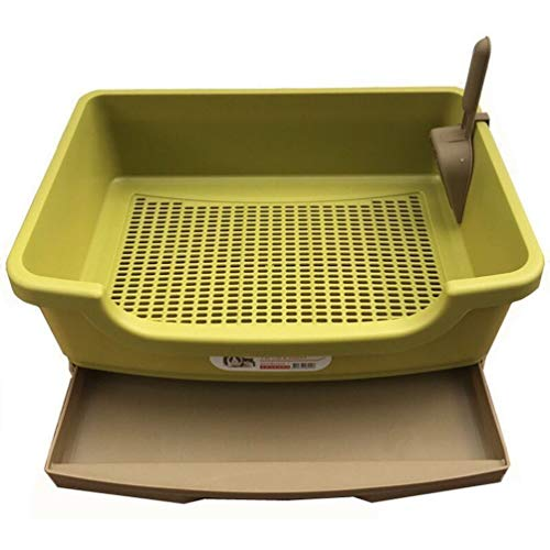 YUYAXCT Open Cat Pan, Cat Litter Tray with Ergonomic Shovel, Splash Cat House, Double Layer Drawer Design, Size: 37 * 27 * 15 cm