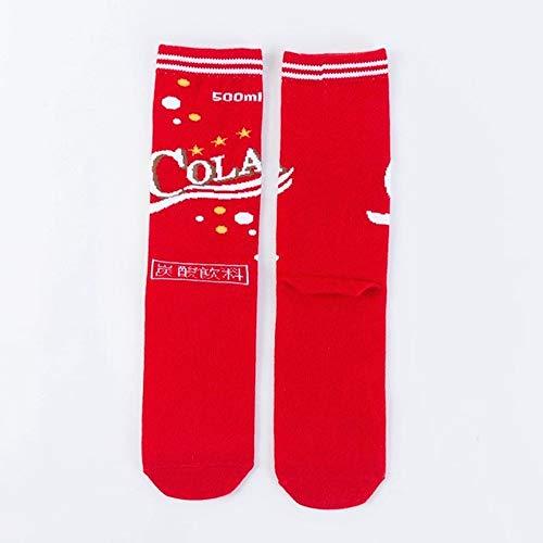 WZIH Mode Harajuku Frau lustige Pommes Burger Coke Snack Socken Stil Neuheit komfortable glückliche Frau Socken,2,35-40