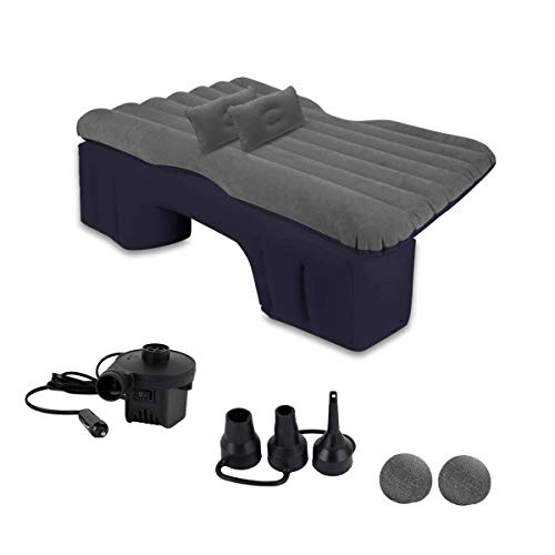 Car Inflatable Travel Air Mattress Bed - Zento Deals Back Seat Sleep Pad Premium Quality Portable Car Mattress with 2 Pillows Universal fit