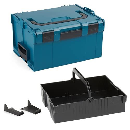 Bosch Sortimo L-BOXX 238 Größe 3 blaugrün | mit Einhängeeinsatz schwarz | Professioneller Werkzeugkoffer erweiterbar | Ideale Werkzeug Aufbewahrung
