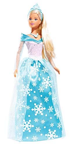 Simba 105732838 Steffi Love Puppe als Eisprinzessin/Kleid mit Schneeflocken und Glitzerelementen