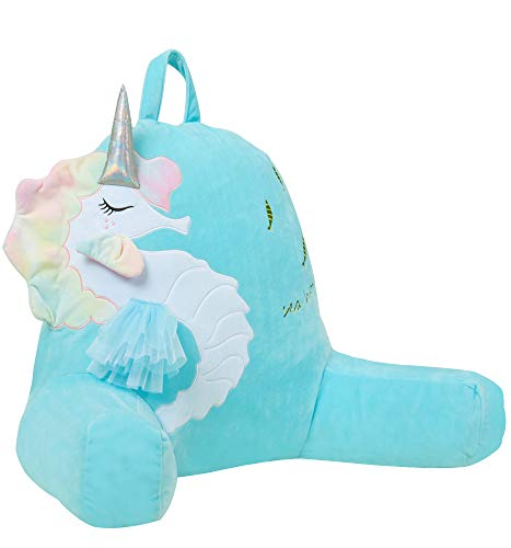 Anzitinlan Unicorn Reading Pillow Back Pillows for Sitting in Bed Bed Rest Pillow Great As Backrest for Books Or Gaming