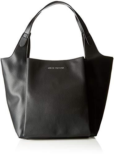 ARMANI EXCHANGE One Strap Shoulder Bag - Borse a tracolla Donna, Nero (Black/Black), 28.0x20.0x42.0 cm (B x H T)