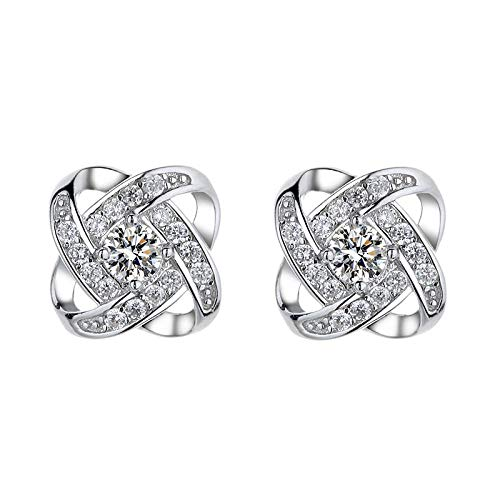 WYJLSWXY 925 Sterling Silver Earrings, Satellite Series Stud Earrings,5A Cubic Zirconia,suitable for Of Sensitive Ears, gift for wife, mother