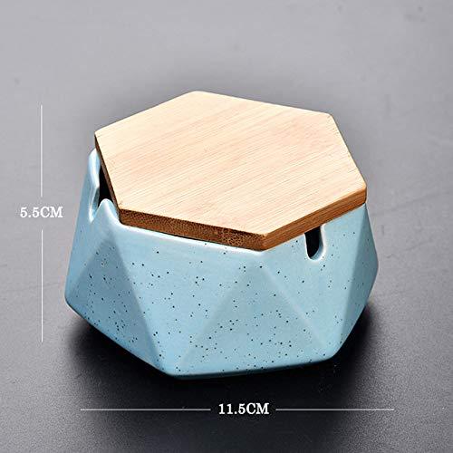 SDFJKOPortable cenicero de cerámica para Fumar cenicero con Tapa Las Cenizas Accesorios para Fumar cigarro cenicero Titular Cigarrillo, Blanco