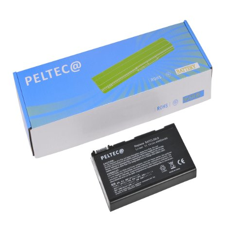 PELTEC@ Premium - Batteria Per Notebook/Laptop Acer Aspire 5100, Acer Aspire 5610, 3100, 3690, 5630, 5650, 5680, 2490, 4200, 4230 Serie, BATBL50L6, BATCL50L6, LC.BTP01.017, BATBL50L8H, BATBL50L4, BATBL50L6H, BATBL50L8H, BATBL50L8, 4400 MAh / 49 Wh, 11,1 V