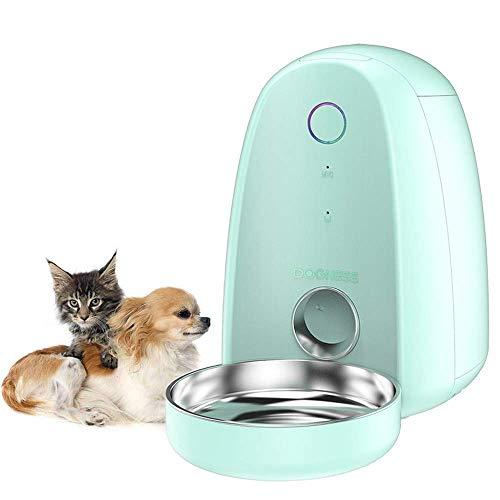 Comedero Automático para Perros y Gatos Dispensador de Comida, WiFi Inteligente Alimentador para Mascotas,App Control Remoto Temporizador Programable,para Perros (Mediano y Pequeño) y Gatos,2L