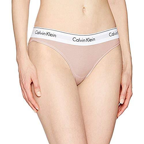 Calvin Klein Underwear Women's Modern Cotton Bikini Briefs, Nymph's Thigh, Pink, Medium