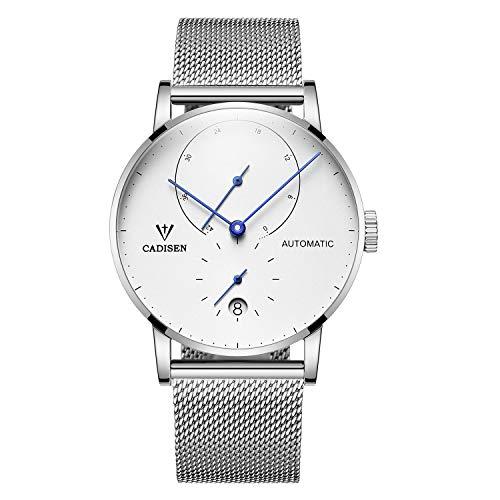 CADISEN Relojes para Hombre Reloj mecánico automático Reloj de Moda Reloj de Acero...