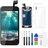FLYLINKTECH Pantalla para iPhone 6s 4.7 '',Táctil LCD de Repuesto Ensamblaje de Marco Digitalizador con botón de Inicio,cámara Frontal,Sensor de proximidad,Altavoz y Herramientas (Negro)