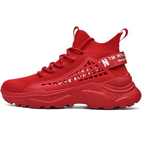 XIDISO Hombre Zapatillas Moda High-Top Sneaker Casuales