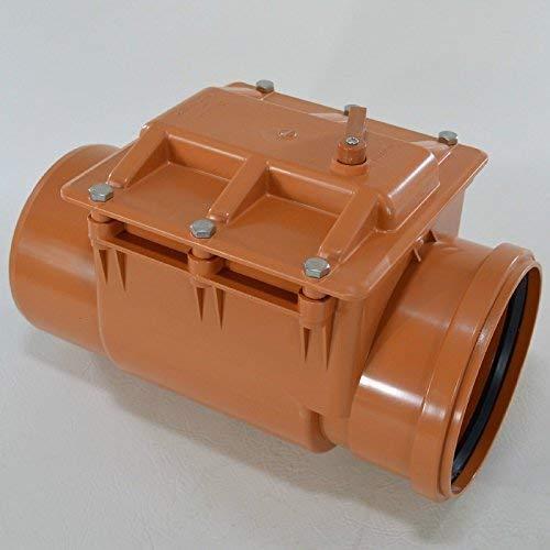 Powemat Automatische Rückstauklappe Ø 200 mm Rückstauverschluß Rattenschutz Geruchsverschluß. Die Klappe ist mit einem automatischen Verschluss und Notsperre ausgestattet.