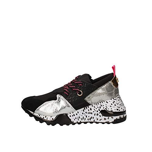 STEVE MADDEN Zapatos Mujer Zapatillas Cliff Negro/Plata Talla 37 Negro/Plata