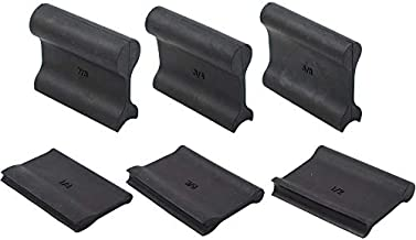 6 Piece 12 Profile Double Ended Contour Sanding Grip Set for Concave & Convex Profile Sanding. Large Size Grip Pads with Profiles. Crown Molding, Molding, Frames or General Woodworking Use