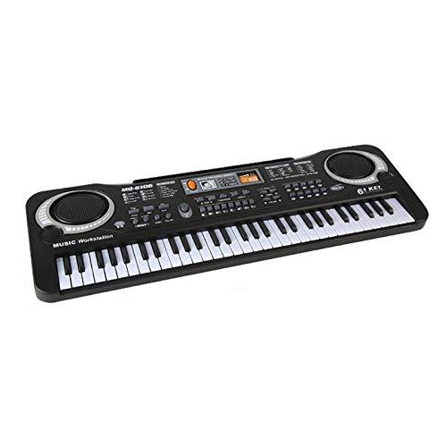 jieGorge Juguete Educativo, micrófono Musical USB 61 Teclas, Piano, Instrumento electrónico portátil, Teclado para niños, Juguete, Juguetes y Pasatiempos (como se Muestra)