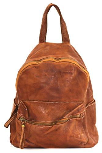 BZNA Bag Ben cognac Backpacker Designer Rucksack Damenhandtasche Schultertasche Leder Nappa ItalyNeu